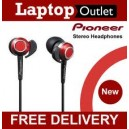 PIONEER SE-CLX40-E Ultra High Spec in-ear Dynamic Headphones Flex Nozzle - Red