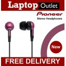 Pioneer SE-CL34-E Fully Enclosed Dynamic Inner-Ear Headphones - RED